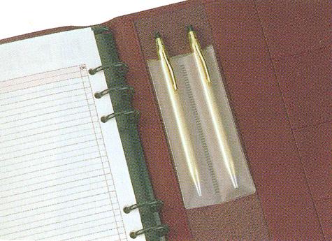 gbc Pen Holder per 2 penne, autoadesivo permette di custodire in modo pratico strumenti di scrittura, (6pz) .