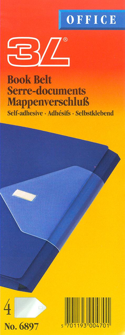 gbc Book Belt autoadesivo tiene chiuse e da solidità a manuali, cartelline e libri dalla copertina morbida  che altrimenti cadrebbero facilmente. Chiusura a velcro,.
