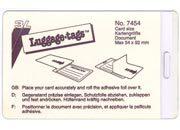 gbc Luggage Tags 3L, Portacartellino plastificante a freddo per bagaglio con asola 3EL7454.