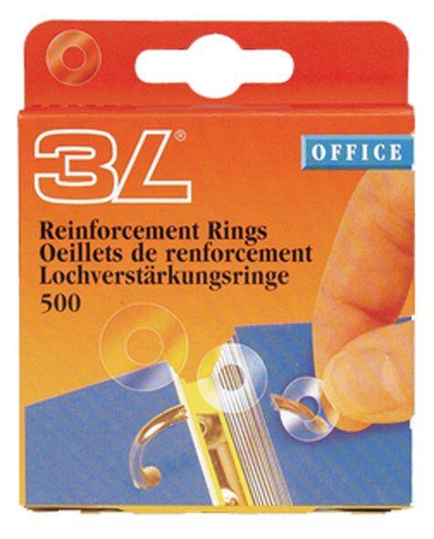 gbc Ring Fix, anelli salvabuchi sono fabbricati in polipropilene (PP) trasparente per riparare e proteggere i documenti nei raccoglitori. Se un foro del documento è rotto, Ring Fix lo ripara ed assicura una lunga durata.