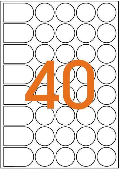 wereinaristea Bollini autoadesivi Agipa, BIANCO, diametro mm 24 in foglietti formato A5 (148x210mm), 40 etichette per foglio.