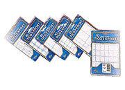 wereinaristea Etichette autoadesive Tico, a registro, mm 74x38 (38x74) BIANCO, in foglietti da mm 127x163, 6 etichette per foglio.
