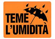 wereinaristea Teme l'umidità cartello autoadesivo 150x115mm, su carta autoadesiva fluorescente.