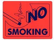 wereinaristea No smoking cartello autoadesivo 150x115mm, su carta autoadesiva fluorescente.
