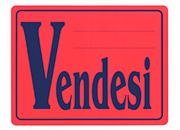 wereinaristea Vendesi cartello autoadesivo 150x115mm, su carta autoadesiva fluorescente.