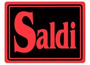 wereinaristea Saldi cartello autoadesivo 150x115mm, su carta autoadesiva fluorescente.