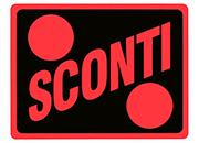 wereinaristea Sconti cartello autoadesivo 150x115mm, su carta autoadesiva fluorescente.