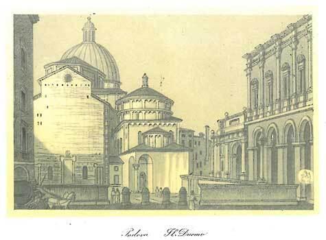 gbc Padova, il Duomo Biglietto in cartoncino pregiato piegato sul lato corto. Dimensioni chiuso: 14,5x11cm. Dimensioni aperto: 29x11cm. Stampa artistica.