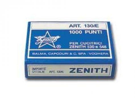 gbc Scatola 1000 punti zenith 130-e (6-4) in acciaio, 0311301401 larghezza esterna del punto 7,12 mm. Altezza esterna delle gambine 4,45 mm. In acciaio naturale. possono essere usati con cucitrici zenith: 530-548-548e-548e2-590-590fun.