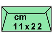 carta Buste verdi per atti giudiziari 11x22cm 110x220mm, 90gr, lembo di chiusura gommato. Adatte ad imbustamento automatico..