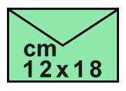 carta Buste verdi per atti giudiziari 12x18cm 120x180mm, 80gr, lembo di chiusura gommato.