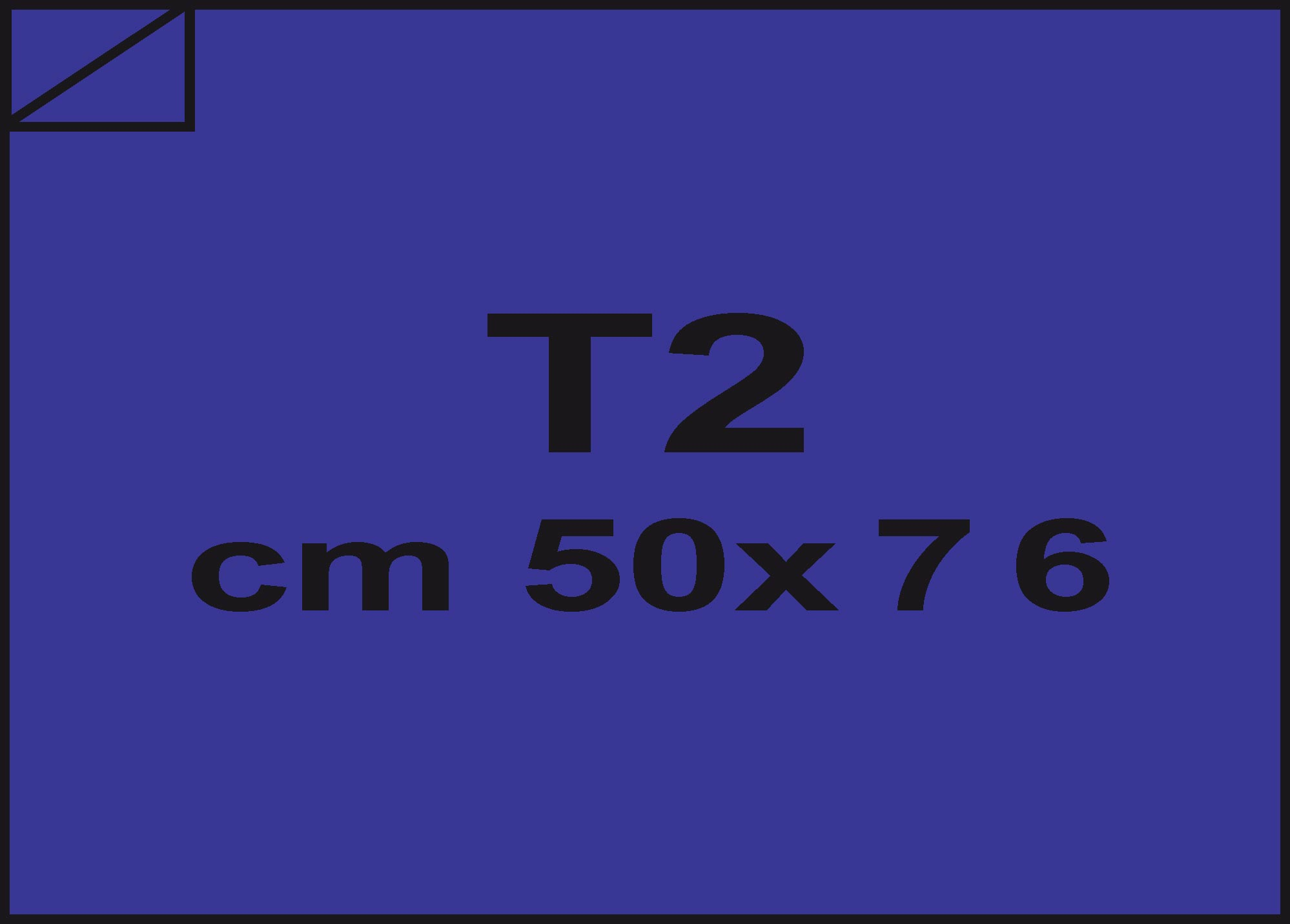 carta Carta velina Blu 56, formato T2 (50x76cm), 18grammi x mq.