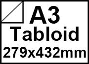 carta Cartoncino UsoManoBIANCO, a3tabloid, 285gr Formato a3tabloid (27,9x43,2cm), 285 grammi x mq. Un lato è goffrato con finitura tela, 1 lato è liscio.