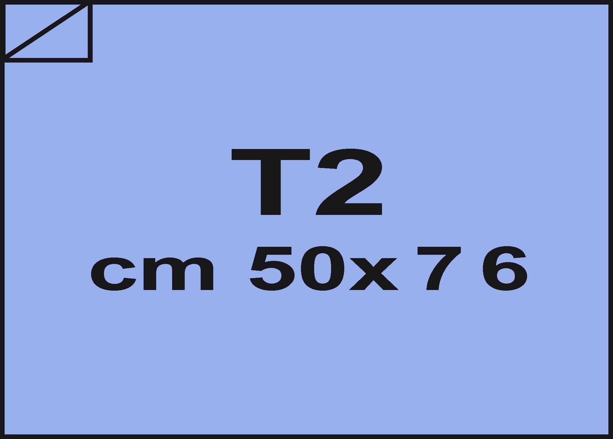 carta Carta velina Celeste 21, formato T2 (50x76cm), 18grammi x mq.