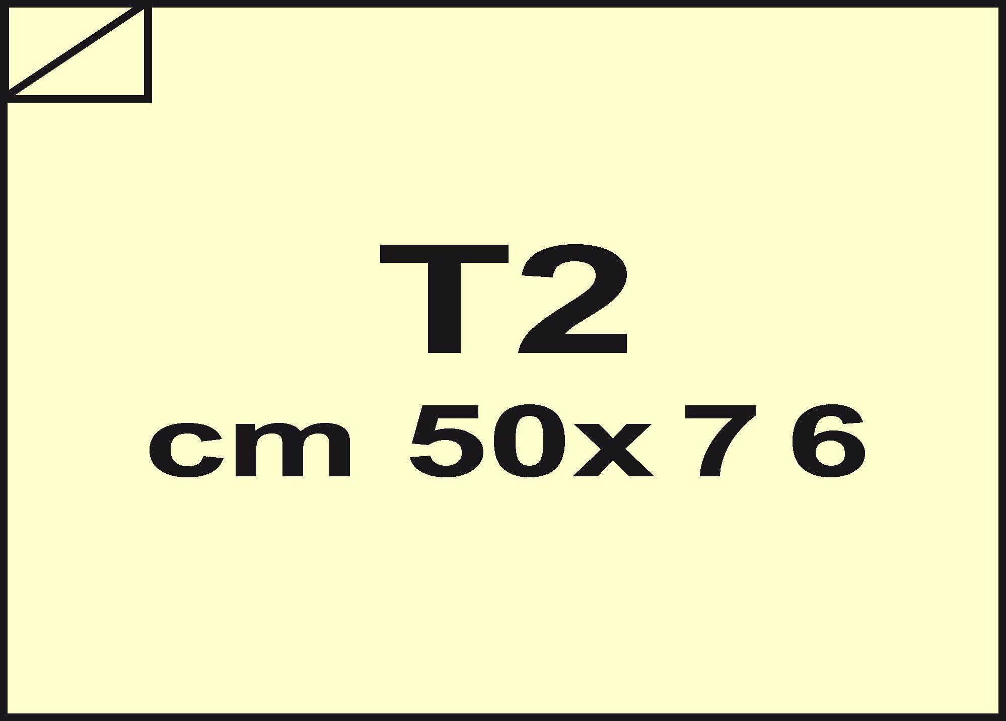 carta Carta velina Giallo chiaro 72, formato T2 (50x76cm), 18grammi x mq.