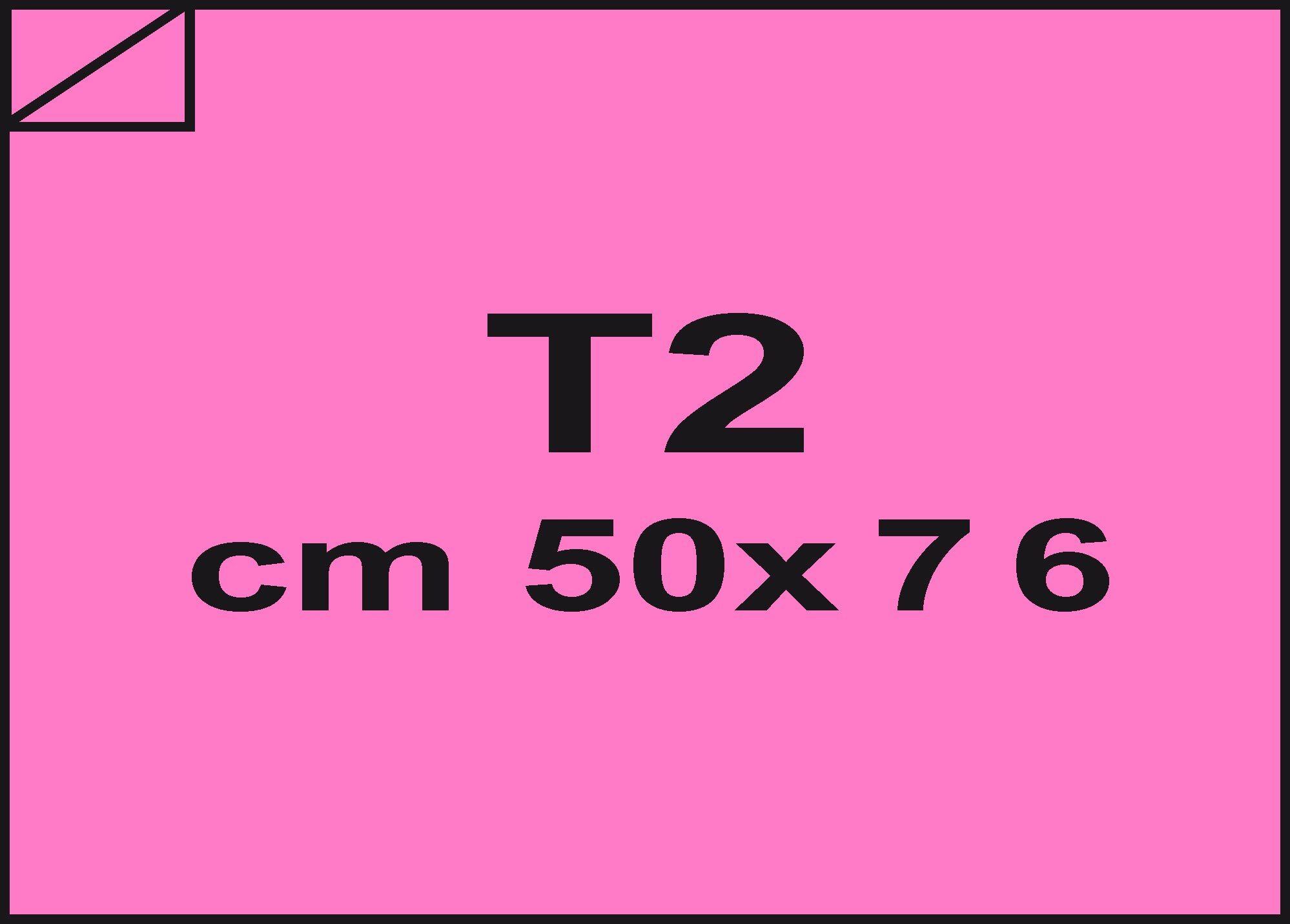carta Carta velina Rosa forte 04, formato T2 (50x76cm), 18grammi x mq.