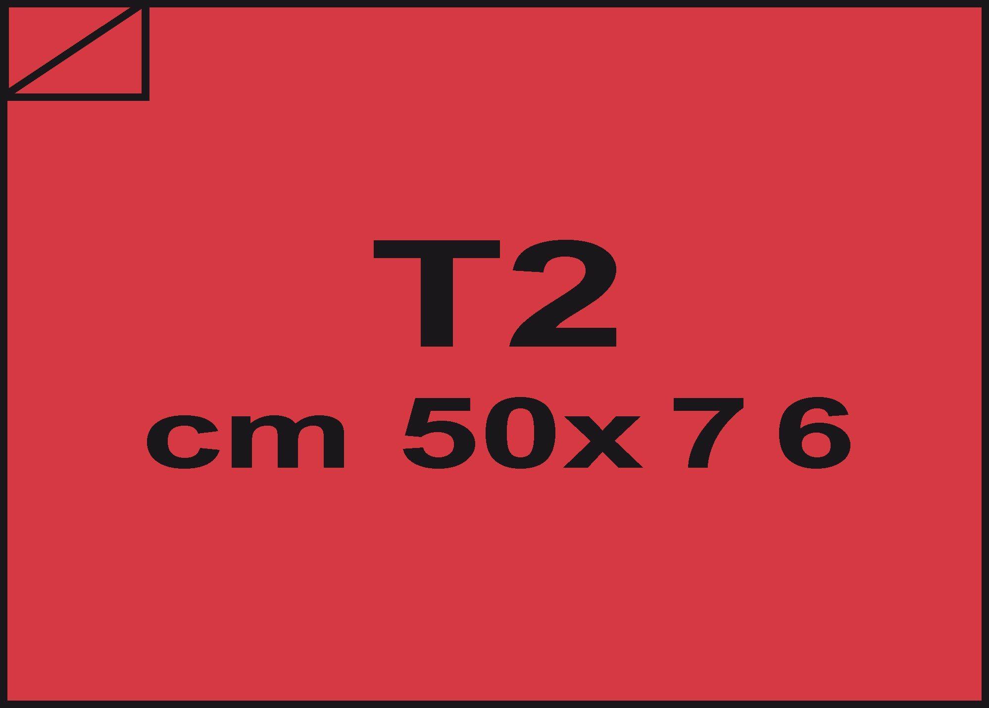 carta Carta velina Rosso 90, formato T2 (50x76cm), 18grammi x mq.