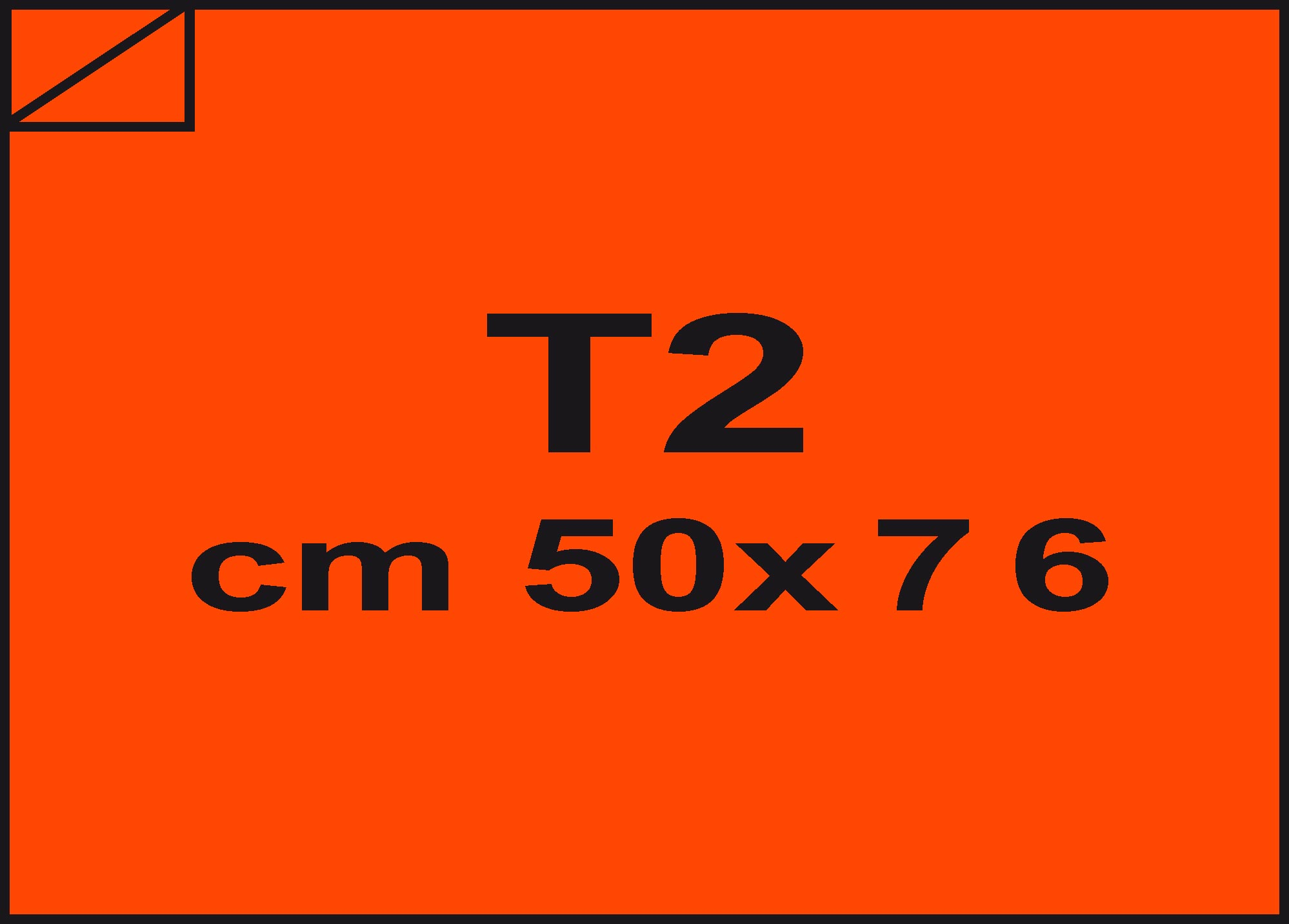 carta Carta velina Arancio 82, formato T2 (50x76cm), 18grammi x mq.