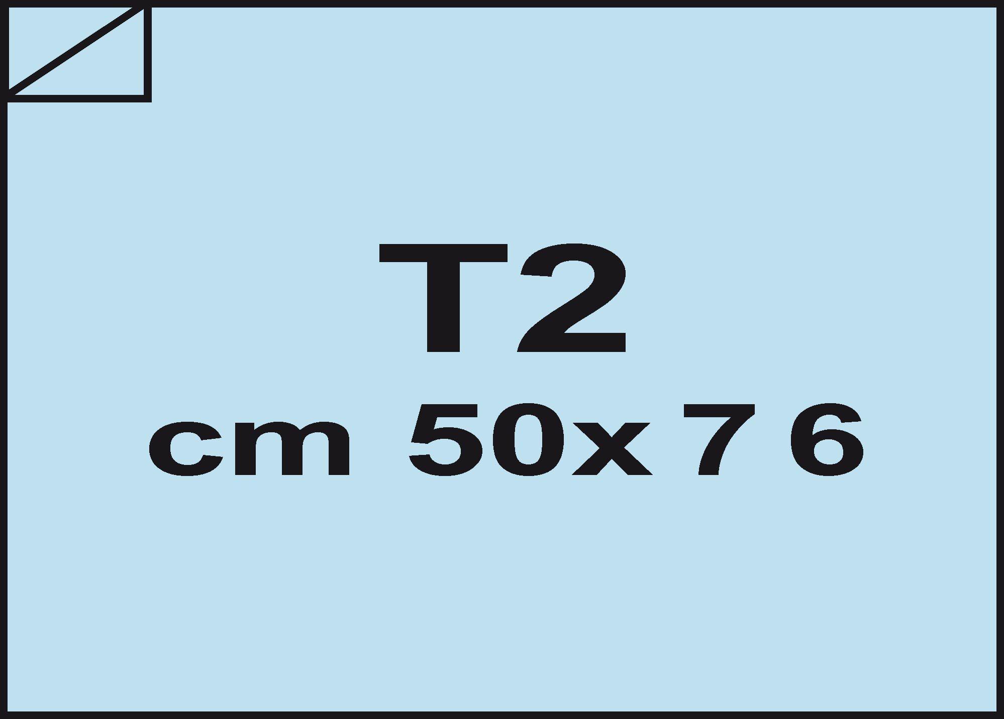 carta Carta velina Azzurro 20, formato T2 (50x76cm), 18grammi x mq.