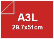 carta CartaLiscia Zanders ROSSO, 125gr, a3l per rilegatura, cartonaggio, formato a3l (29,7x50cm), 125 grammi x mq.