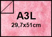 carta Pergamena MarinaFedrigoni rosaCORALLO, 90gr, a3l Formato a3l (29,7x50cm), 90grammi x mq.