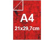 carta Cartoncino Marmorizzata ROSSO formato A4 (21x29,7cm), 170grammi x mq bra316-11