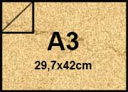carta Cartoncino Pelle Elefante Zanders Camoscio, formato A3 (29,7x42cm), 110grammi x mq bra183a3 -11