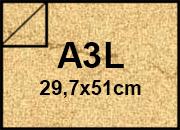 carta Cartoncino Pelle Elefante Zanders Camoscio, formato A3L (29.7X50cm), 110grammi x mq.