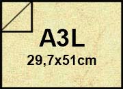 carta Cartoncino Pelle Elefante Zanders Verde Acqua, formato A3L (29,7x50cm), 110grammi x mq.