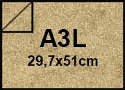 carta Cartoncino Pelle Elefante Zanders Bruno Chiaro, formato A3L (29,7x50cm), 110grammi x mq.