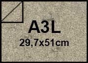 carta Cartoncino Pelle Elefante Zanders Tabacco, formato A3L (29,7x50cm), 110grammi x mq.