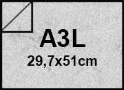 carta Cartoncino Pelle Elefante Zanders Grigio Chiaro, formato A3L (29,7x50cm), 110grammi x mq.