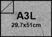 carta Cartoncino Pelle Elefante Zanders Grigio Topo, formato A3L (29,7x50cm), 110grammi x mq.