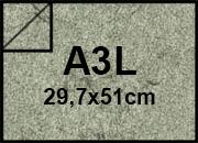 carta Cartoncino Pelle Elefante Zanders Grigio, formato A3L (29,7x50cm), 110grammi x mq.