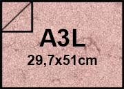 carta Cartoncino Pelle Elefante Zanders Seppia, formato A3L (32,7x52cm), 110grammi x mq.