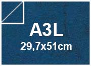 carta Cartoncino Pelle Elefante Zanders BluScuro, formato A3L (32x45cm), 110grammi x mq.