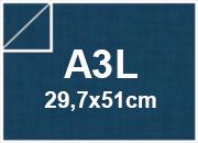 carta CartaLiscia Zanders bluPRUSSIA, 125gr, a3l per rilegatura, cartonaggio, formato a3l (29,7x50cm), 125 grammi x mq.