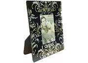 lebez Cornice portafoto in cristallo formato cornice 12x15cm, formato foto 5x7,5cm.