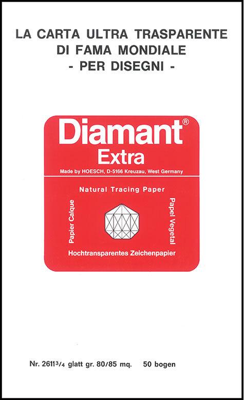 gbc Blocco carta da lucido per disegno tecnico DIAMANT EXTRA 29,7x42cm La carta ultra trasparente di fama mondiale per disegni, formato A3 (29,7x42cm), 85 grammi x mq,  prodotto originale tedesco Hoesch, MADE IN GERMANY.