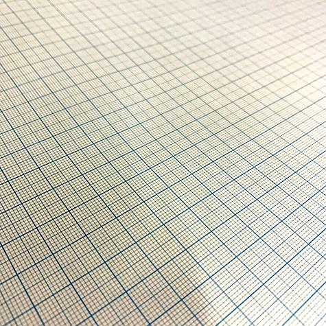 gbc Blocco di carta Millimetrata formato A3 (29,7x42cm) in carta OPACA finissima, colore stampa: Azzurro, legatura: Collato in testa, foliazione: 50 fogli, carta da 85gr. Stampa differenziata per i quadrati da 1mm, 5mm e 10mm.