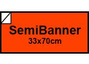 carta Cartoncino Fluorescente ROSSO 08 Formato sb (33,3x70cm), 1 lato colorato, 1 lato bianco, 275grammi x mq.
