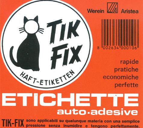 wereinaristea Etichette autoadesive Tik-Fix, a registro, mm 158x103 (103x158) BIANCO, in foglietti da mm 116x170, 1 etichette per foglio, (10 fogli).