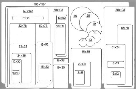 wereinaristea Etichette autoadesive Tik-Fix, a registro, mm 52x32 (32x52) BIANCO, in foglietti da mm 116x170, 9 etichette per foglio, (10 fogli).