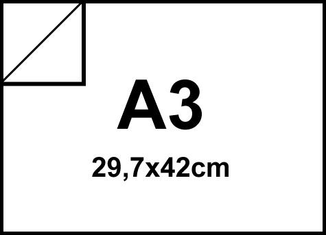 carta Cartoncino BiancoFlashPremium Favini, A3, 120gr Bianco, formato A3 (29,7x42cm), 120grammi x mq.