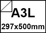 carta Cartoncino BiancoFlashPremium Favini, A3L, 700gr Bianco, formato A3L (29,7x50cm), 700grammi x mq.