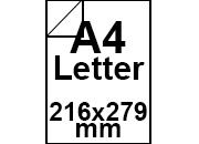 carta Carta Bindakote Monolucido, A4letter, 120gr Ice White, FAVINI, formato A4letter (21,6x27,9cm), 120grammi x mq.