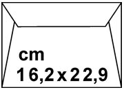 carta Busta gommata Bianca, pattella a punta BRAsv4814/10.