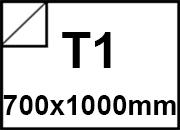 carta Carta adesiva patinata semilucida SEMIGLOSS Bianco, formato T1 (70x100cm), 80grammi x mq, retro 80grammi x mq.