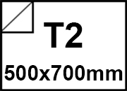 carta Carta adesiva patinata semilucida SEMIGLOSS Bianco, formato T2 (50x70cm), 80grammi x mq, retro 80grammi x mq.