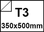 carta Cartoncino adesivo kote HI GLOSS 180 Bianco, formato T3 (35x50cm), 180grammi x mq, retro 80grammi x mq.